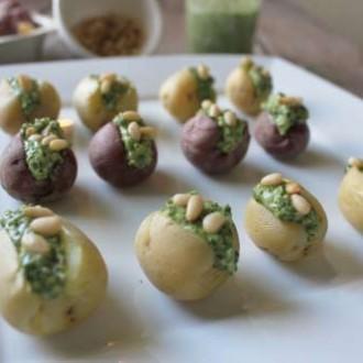 Pesto Stuffed Potatoes from In Johnna's Kitchen