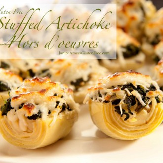 Stuffed Artichoke Hors d'Oeuvres from Janice Amee's Gluten Free
