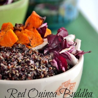 Red Quinoa Buddha Bowl from The Healthy Apple