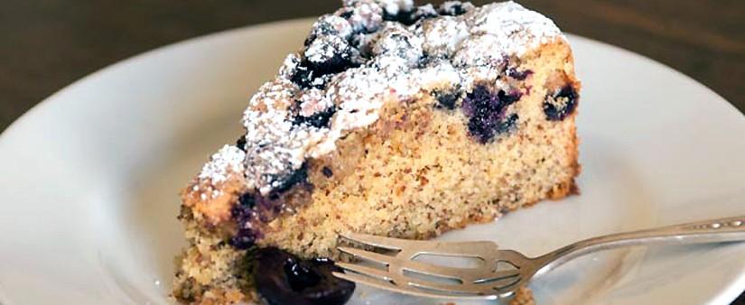 Fresh Cherry & Blueberry Cake