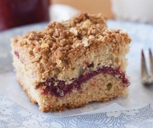 Raspberry Coffee Cake with Cinnamon Streusel Topping