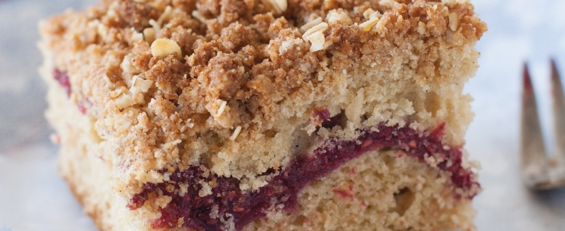 Raspberry Coffee Cake with Cinnamon Streusel Topping