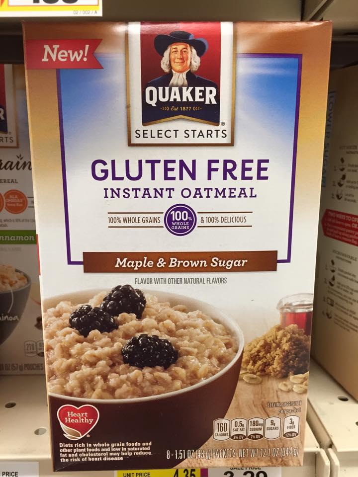 Oatmeal is gluten free