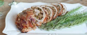 Gluten-free stuffed turkey breast