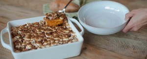 Sweet Potato Casserole with Roasted Apples