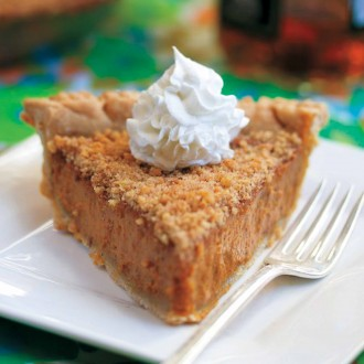 Maple Pumpkin Pie with Cinnamon Walnut Crust