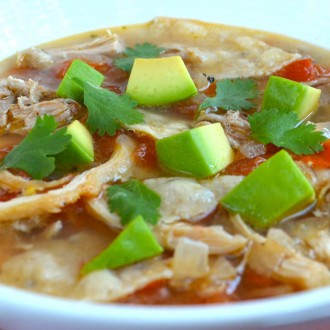 Hearty Sunkist® Lemon Chicken Tortilla Soup