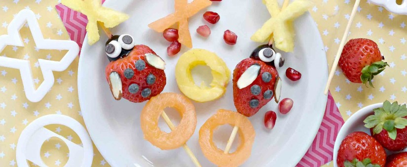 Love Bug Fruit Kabobs