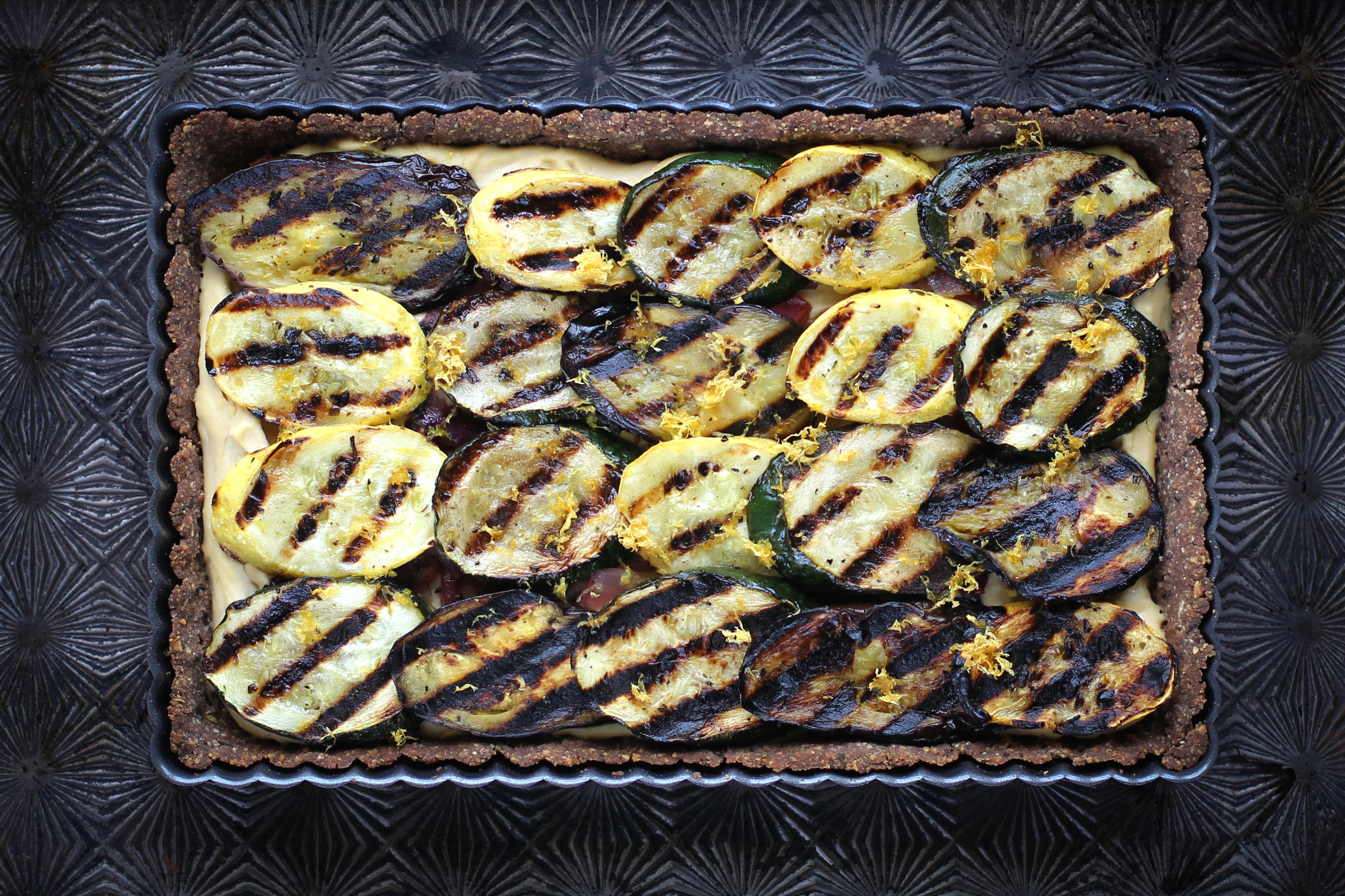 Grilled Vegetable and Hummus Tart - Gluten-Free Living