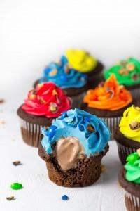 Chocolate Peanut Butter Ice Cream Cupcakes