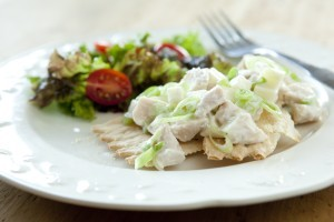 Creamy Chicken Salad with Yogurt and Apples