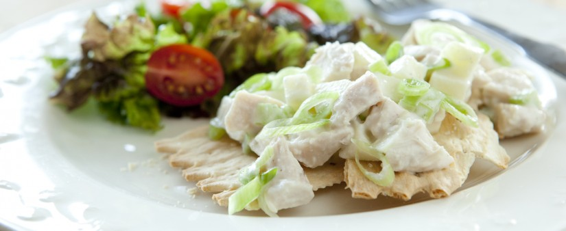 Creamy Chicken Salad with Yogurt and Apples