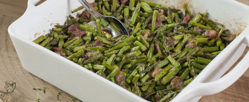 The Easiest Asparagus and Bacon Bake