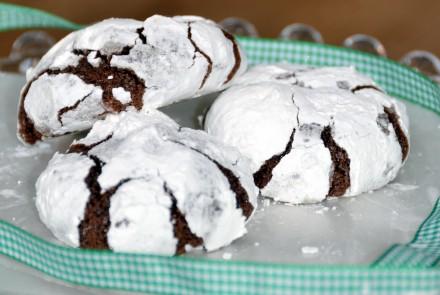 Chocolate Snowflake Cookies