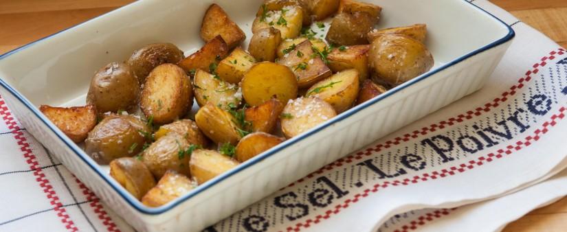 Crispy Leftover Garlic Potatoes