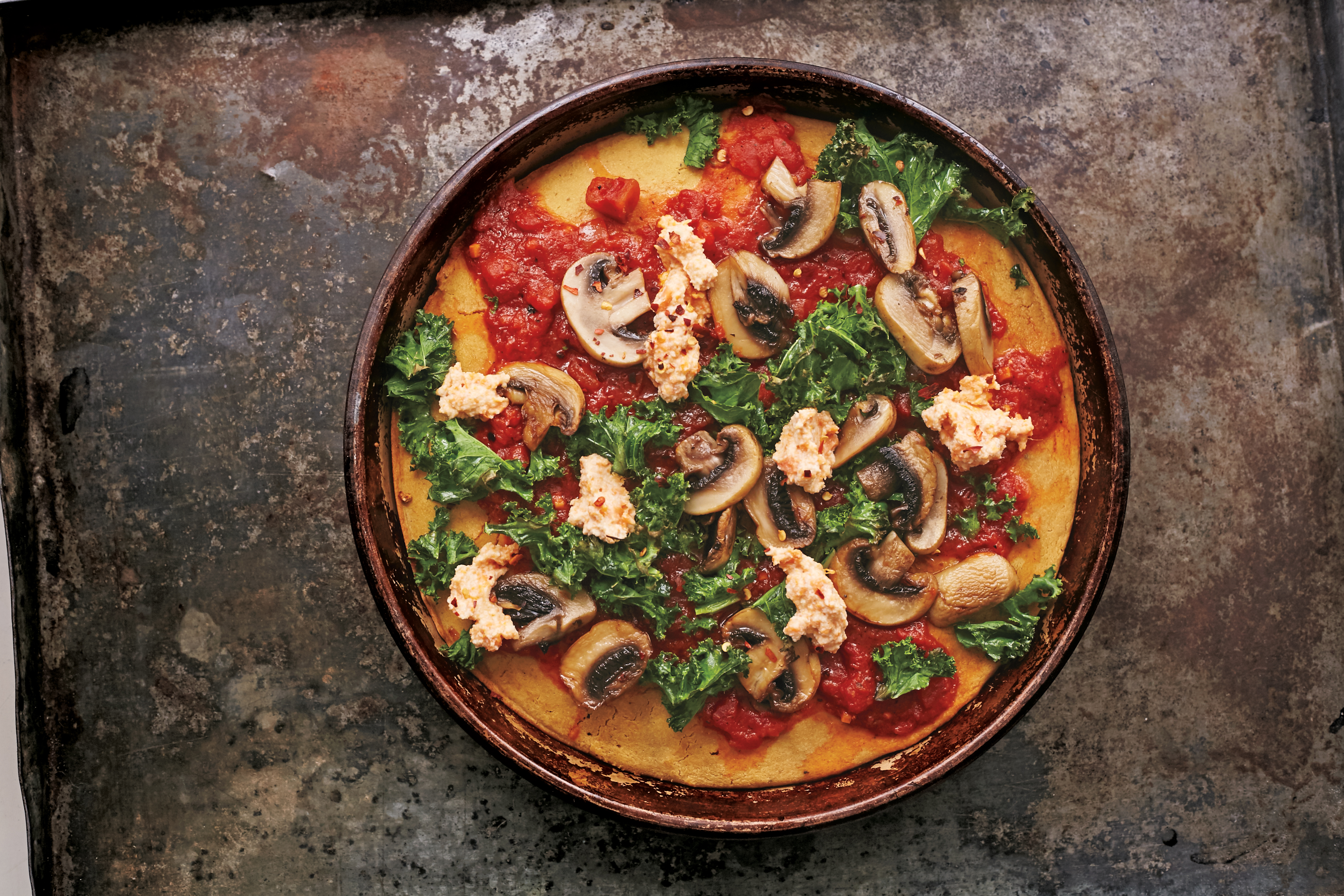 Moroccan Chickpea Skillet Pizza - Gluten-Free Living | 3938 x 2625 jpeg 7724kB