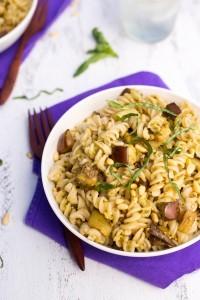 Eggplant Pesto Pasta