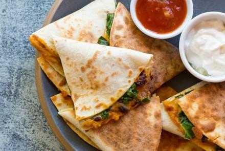Gluten-Free Quesadillas with Sweet Potato, Kale & Black Beans