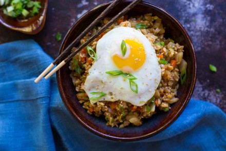 Kimchi Fried Rice with a Fried Egg