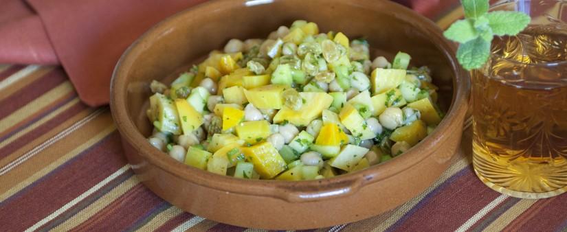 Golden Beet, Cucumber & Chickpea Salad