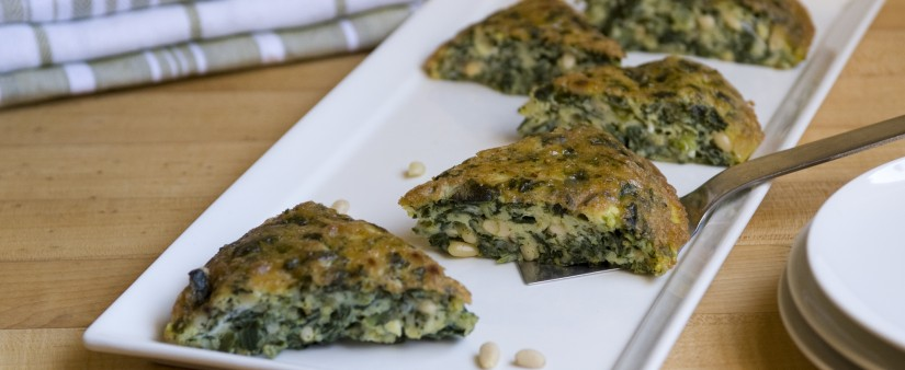Gluten-Free Frittata with Spinach & Cheese
