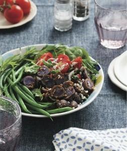 Purple Potato Niçoise-Style Salad