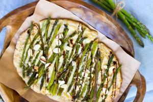 Roasted Asparagus and Parmesan Flatbread