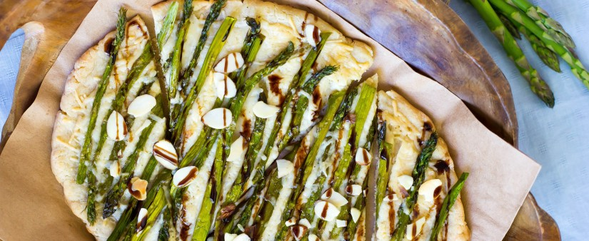 Roasted Asparagus and Parmesan Flatbread