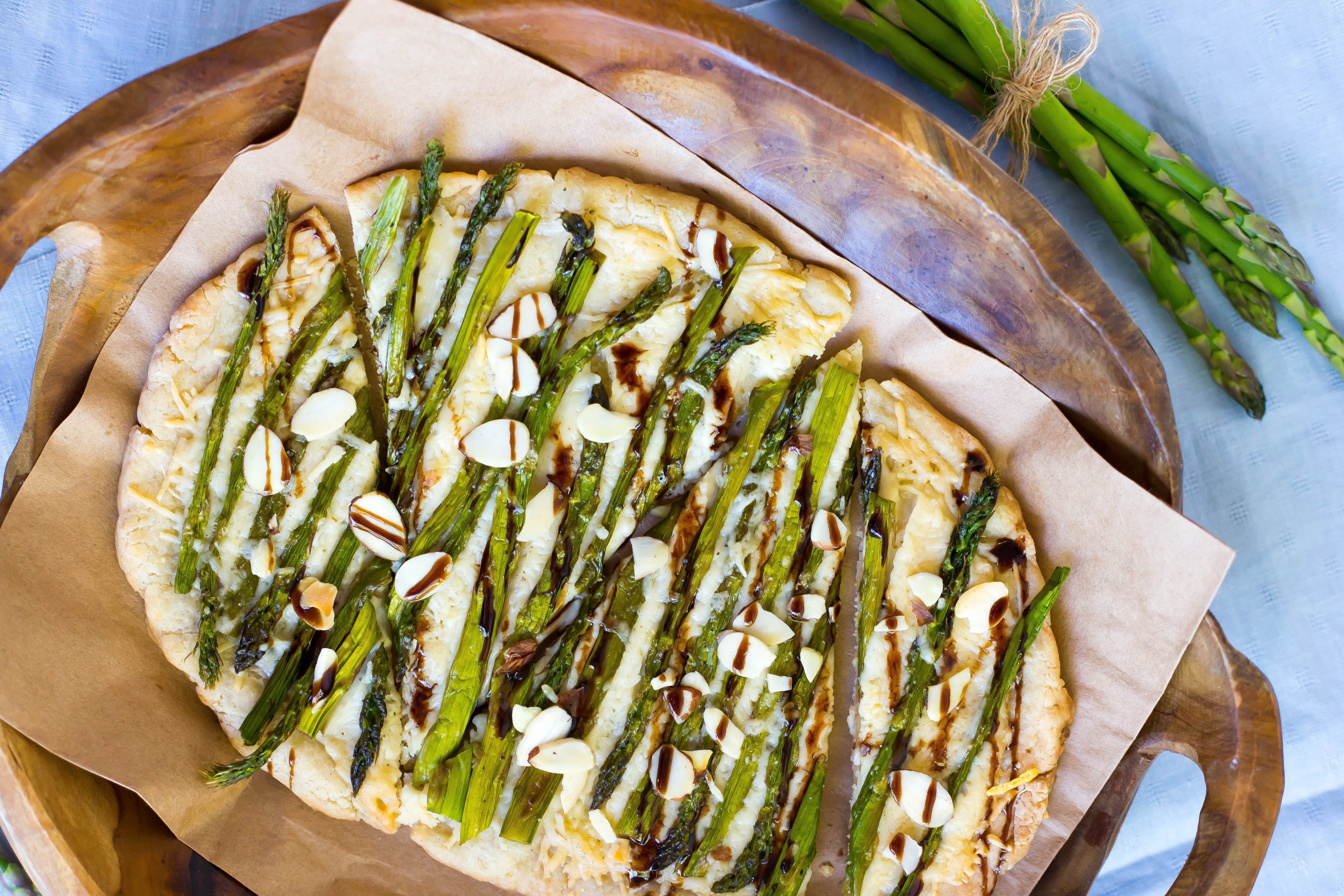 Roasted Asparagus and Parmesan Flatbread - Gluten-Free Living