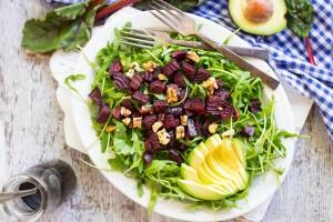Roasted Beet, Avocado & Arugula Salad