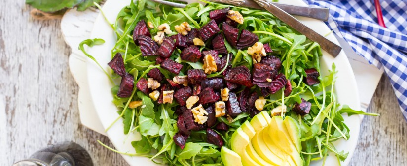 Roasted Beet, Avocado & Arugula Salad