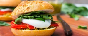 Roasted Red Pepper Caprese Melts