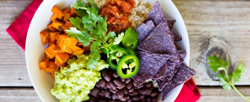 Roasted Sweet Potato & Black Bean Burrito Bowls
