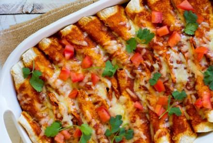Sharp Cheddar & Quinoa Enchiladas