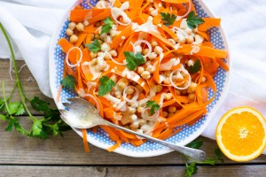 Shaved Carrot Salad with Citrus Tahini Dressing