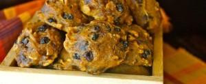Spiced Pumpkin Chocolate Chip Oatmeal Cookies