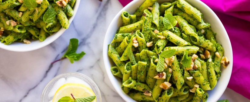 Spinach & Mint Pesto Pasta Recipe