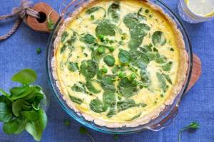 Watercress, Sweet Pea & Ricotta Quiche
