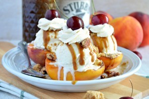 high res peach sundaes