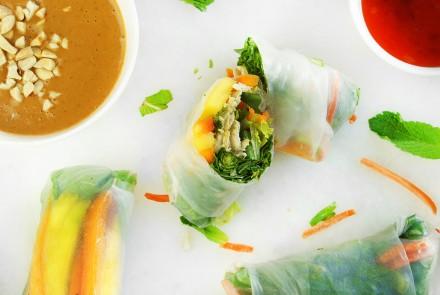 Gluten-Free Thai Chicken Summer Rolls