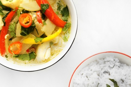 Gluten-Free Thai Fish Curry with Jasmine Rice