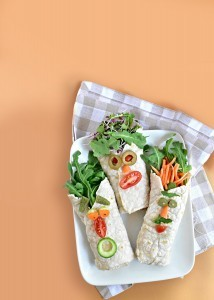 Silly Face  Hummus Wraps