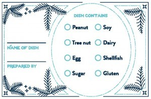 Allergy card blue