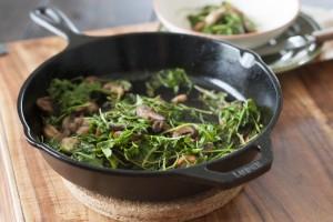 Wilted Arugula and Mushroom