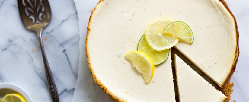 Lemon Lime Greek Yogurt Cheesecake