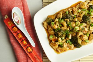 Healthy Spicy Cashew Chicken and Broccoli