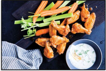 Buffalo Wings with Herb Ranch Dressing