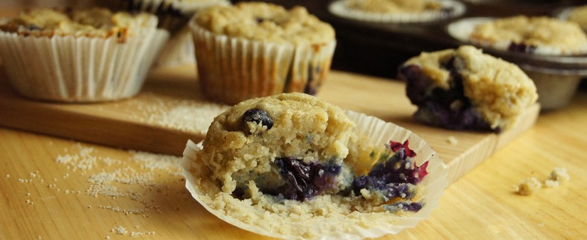 Banana and Blueberry Fonio Muffins