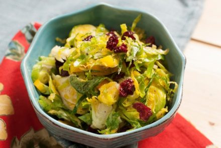 Tropical Brussels Sprout Slaw