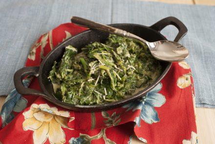 Smoky Creamed Spinach